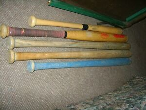 OLD WOODEN BALL BATS