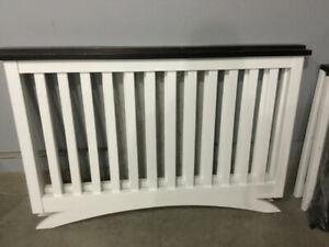Shermag Baby Crib. White with Brown trim.