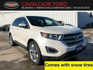 2015 Ford Edge Titanium AWD with roof, navigation, leather!!