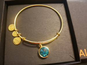 Alex and Ani Bracelet Blue Zircon stone - great gift for someone