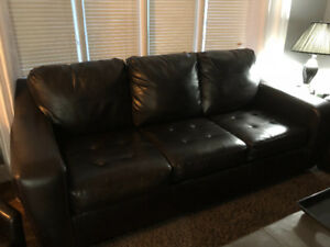 Leather Couch/Love Seat Set-8Months Old. $500 OBO