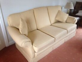 3 seater Sofa - Gold