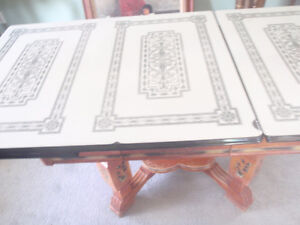 Antique enamel table top
