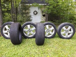 4 VW alloy wheels 5x112x16 & 6 Michelin 205/55R/16 tires