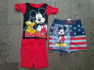 Mickey Mouse PJs and Bathing Suit