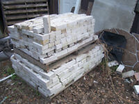 650 + new white smooth bricks in good shape size is 8/14 L & w 4