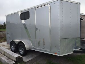 7x14 double axle Enclosed Trailer