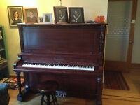 Upright Piano Willis+Co.,Refurbished +Refinished by Professional