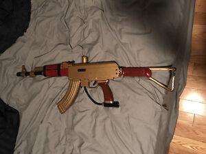 GOLD AK-47 banana clip marker paintball gun