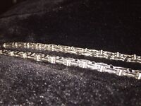Men's cage chain with Diamonds not Gucci Armani Rolex Christian Cartier moncler pit bike