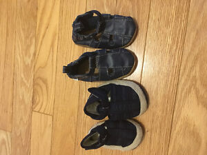 0-6 month Robeez and Carters sandals