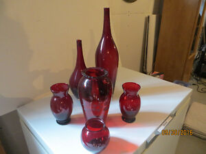 Vases rouge Red Vases