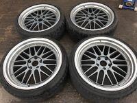 "20"" alloy wheels Alloys Rims 5x120 BMW staggered"