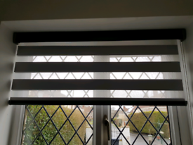 2 x Blinds - Black, grey & See through - made to measure