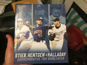 Blue Jays pitchers trio bobblehead Hentgen Halladay Stieb