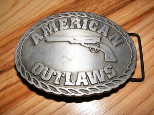 American Outlaws Pewter Belt Buckle - 2001