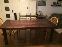 Rustic pine harvest tables and more