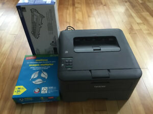Brother black and white laser printer and acccessories
