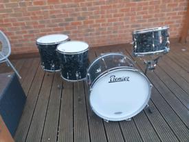 Premier vintage drum kit in black diamond pearl