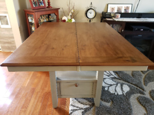 Pub-style Table with 6 matching chairs