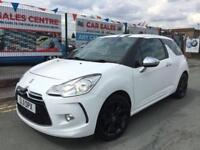 CITROEN DS3 1.6VTi 120 WHITE 3DR *BLACK & WHITE EDITION *LOW 44,151 MILES