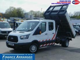 2018 Ford Transit 2.0TDCI ECOBLUE EURO 6 DOUBLECAB TIPPER Tipper Diesel Manual