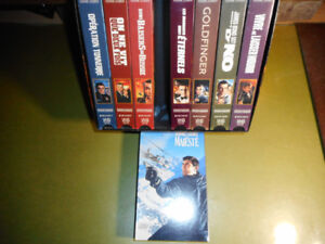 8 premiers james bond 007 set de collection vhs