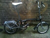 Brompton M3R folding bicycle 3 speed EXTRAS + LOADS OF NEW PARTS worldwide shipping!