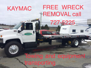 call 682-5199 free wreck removal