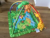 Fisher Price rainforest mat and jungle gym with music and lights