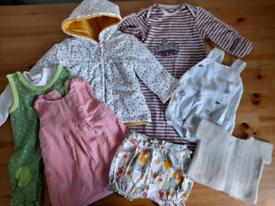 Mix of 0-3m baby girl clothes