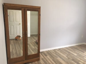 Antique armoire in very good condition with twin mirrors