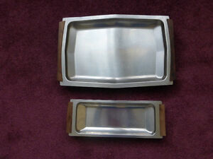 Stainless Steel Serving Trays - Lot of 2