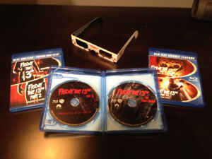 Friday the 13th - BluRays Parts 1 to 6 set including 3D glasses