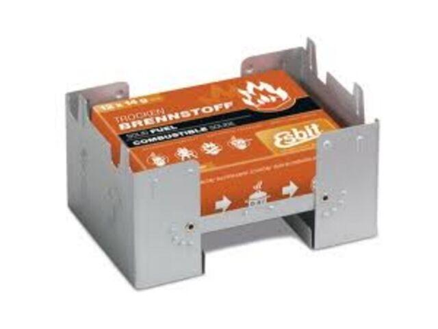 ESBIT POCKET STOVE INCL. 12X14G SOLID FUEL TABLETS 00289000