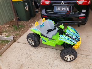 Kids Ride On Electric Car Buggy 12v Ninja Turtles Toy
