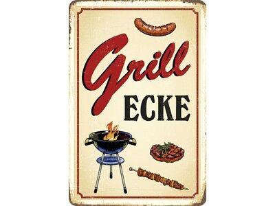 Grillecke Blechschild 20 x 30 cm  PC 300/464 Grill Ecke BBQ Grillmeister Grillen