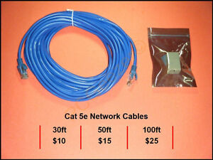 Cat 5e Network Cables.... 30ft 50ft 100ft