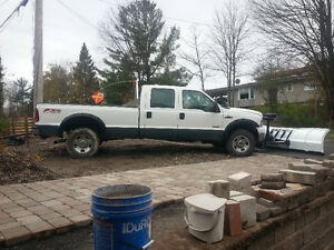 2007 Ford F-350 Crew cab Diesel 4x4 AC clean  quick attach Plow