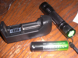 Rechargeable, high power LED flash lights