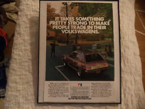 OLD AMC CLASSIC CAR FRAMED ADS Windsor Region Ontario image 2