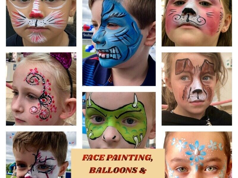 FACE PAINTING,BALLOONS AND GLITTER TATTOO FOR YOUR OCCASION