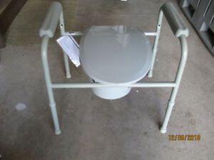 DRIVE Medical Deluxe all-in-one welded steel commode toilet seat