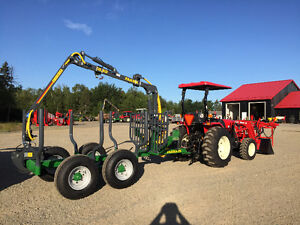 Branson tractor and Farma log loader trailer Package