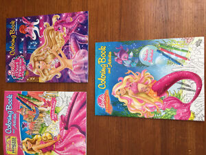 New! Barbie colouring & activity book with stickers