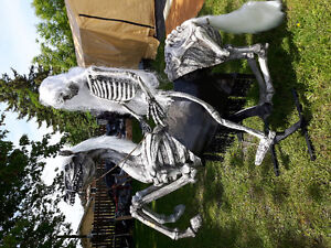horse and rider halloween decoration
