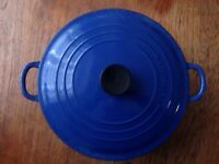 LE CREUSET Cast Iron Casserole. HUGE!! NOW REDUCED!