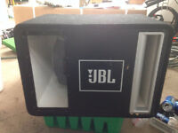 """12"""" sub in ported box with amp"""