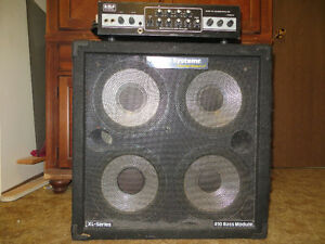 A.M.P. BH420 Bass Amplifier with Hartke 4x10 Cabinet