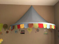 Canopy adorable over crib or bed or in a reading nook